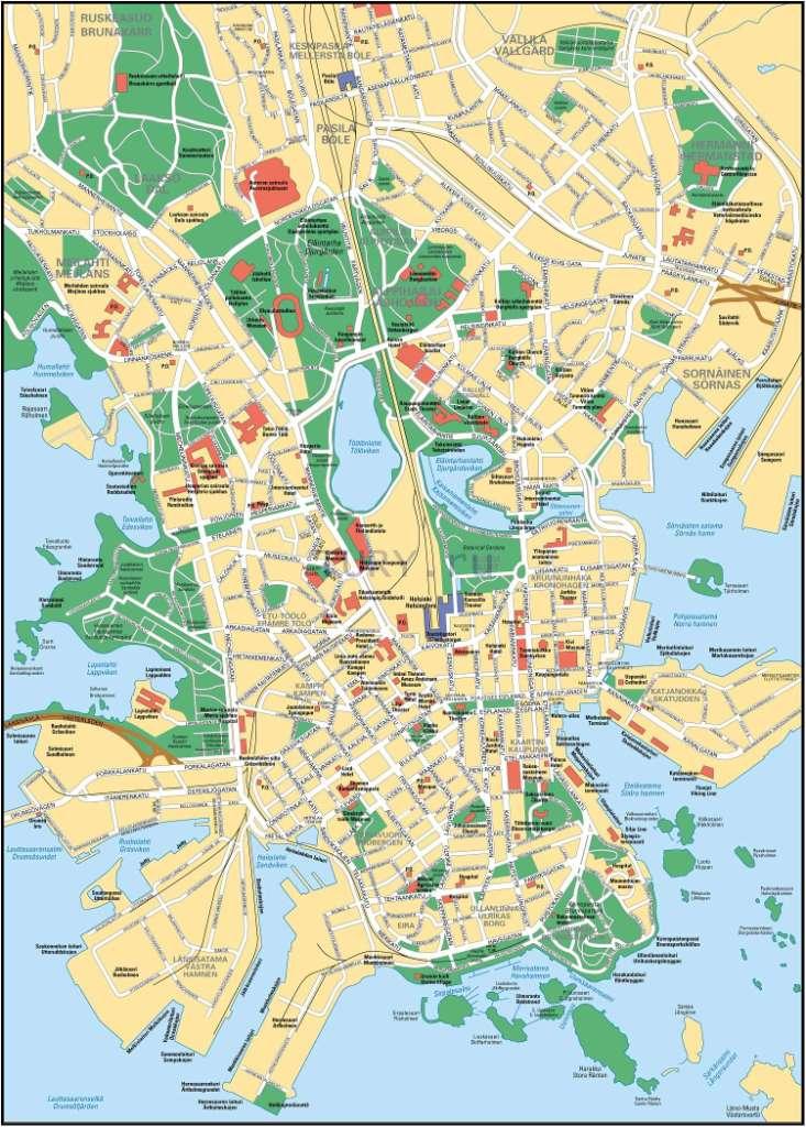 Карта Хельсинки Финляндия