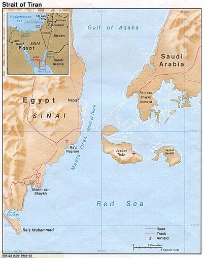 Карта Египта. Окрестности Шарм-эль-Шейха в Египте.